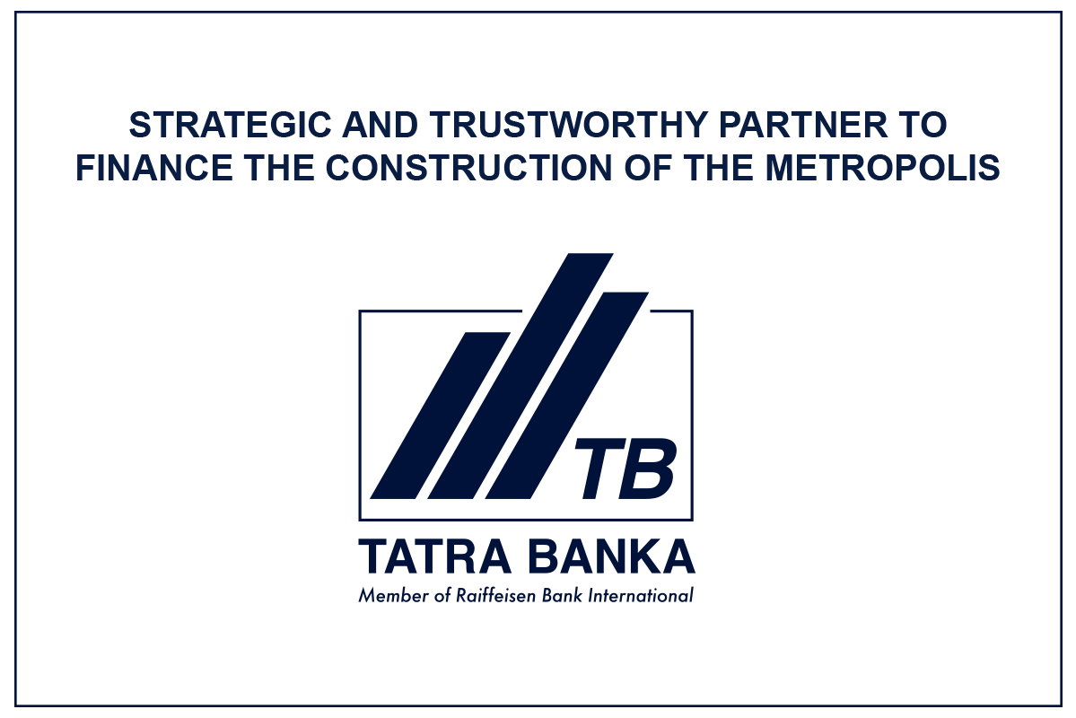 Mint Investments development company selects Tatra banka as its strategic and trustworthy partner to finance the construction of the Metropolis residential project